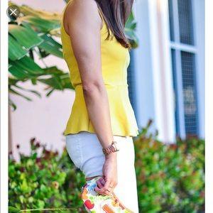 H&M peplum blouse sz S